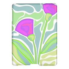 Purple Flowers Samsung Galaxy Tab S (10 5 ) Hardshell Case  by Valentinaart