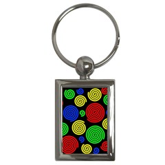 Colorful Hypnoses Key Chains (rectangle)  by Valentinaart