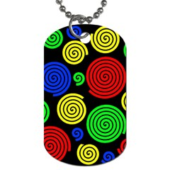 Colorful Hypnoses Dog Tag (two Sides) by Valentinaart