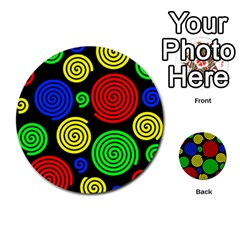 Colorful Hypnoses Multi Purpose Cards (round)