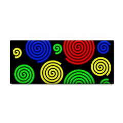 Colorful Hypnoses Hand Towel by Valentinaart
