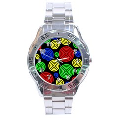 Colorful hypnoses Stainless Steel Analogue Watch