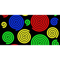 Colorful Hypnoses You Are Invited 3d Greeting Card (8x4) by Valentinaart
