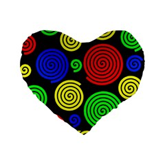 Colorful Hypnoses Standard 16  Premium Heart Shape Cushions by Valentinaart