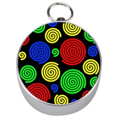 Colorful Hypnoses Silver Compasses by Valentinaart