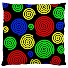 Colorful Hypnoses Standard Flano Cushion Case (two Sides) by Valentinaart