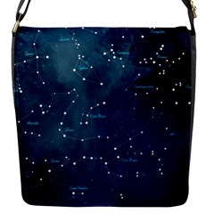 Constellations Flap Closure Messenger Bag (small) by DanaeStudio