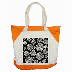 Black And White Hypnoses Accent Tote Bag by Valentinaart