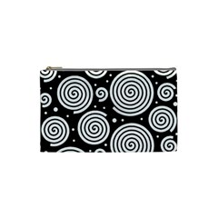 Black And White Hypnoses Cosmetic Bag (small)  by Valentinaart