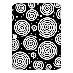 Black And White Hypnoses Samsung Galaxy Tab 3 (10 1 ) P5200 Hardshell Case  by Valentinaart