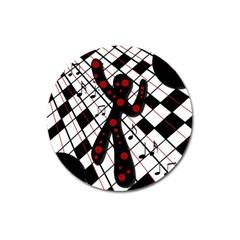 On The Dance Floor  Magnet 3  (round) by Valentinaart