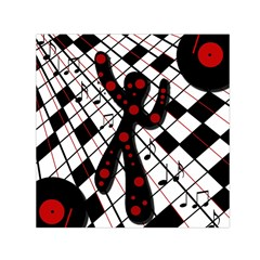 On The Dance Floor  Small Satin Scarf (square) by Valentinaart