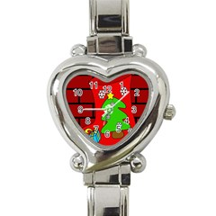 Christmas Sock Heart Italian Charm Watch by Valentinaart