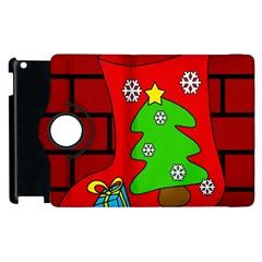 Christmas Sock Apple Ipad 3/4 Flip 360 Case by Valentinaart
