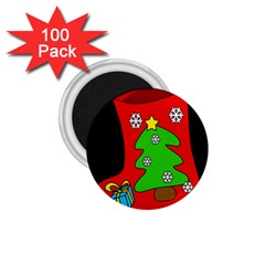 Christmas Sock 1 75  Magnets (100 Pack)  by Valentinaart