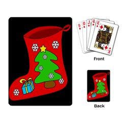 Christmas Sock Playing Card by Valentinaart