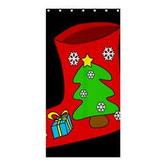 Christmas Sock Shower Curtain 36  X 72  (stall)  by Valentinaart