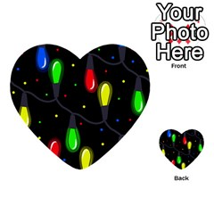 Christmas Light Multi Purpose Cards (heart)  by Valentinaart
