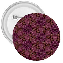 Fuchsia Abstract Shell Pattern 3  Buttons by TanyaDraws