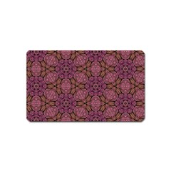Fuchsia Abstract Shell Pattern Magnet (Name Card) by TanyaDraws
