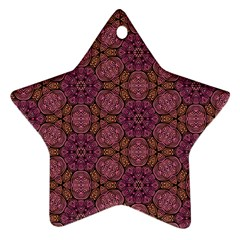 Fuchsia Abstract Shell Pattern Star Ornament (two Sides)  by TanyaDraws
