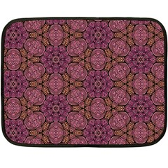 Fuchsia Abstract Shell Pattern Fleece Blanket (mini) by TanyaDraws