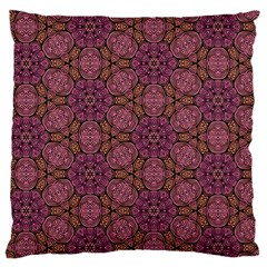 Fuchsia Abstract Shell Pattern Standard Flano Cushion Case (one Side) by TanyaDraws