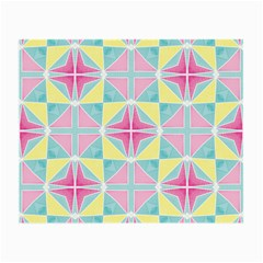 Pastel Block Tiles Pattern Small Glasses Cloth by TanyaDraws
