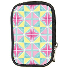 Pastel Block Tiles Pattern Compact Camera Cases by TanyaDraws