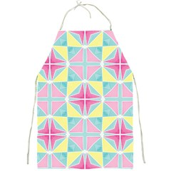 Pastel Block Tiles Pattern Full Print Aprons by TanyaDraws