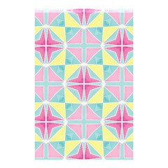 Pastel Block Tiles Pattern Shower Curtain 48  X 72  (small)  by TanyaDraws