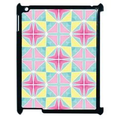 Pastel Block Tiles Pattern Apple Ipad 2 Case (black) by TanyaDraws