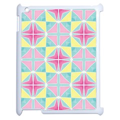 Pastel Block Tiles Pattern Apple Ipad 2 Case (white) by TanyaDraws