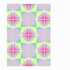 Pastel Block Tiles Pattern Small Garden Flag (two Sides) by TanyaDraws