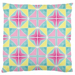 Pastel Block Tiles Pattern Large Cushion Case (one Side) by TanyaDraws
