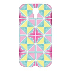 Pastel Block Tiles Pattern Samsung Galaxy S4 I9500/i9505 Hardshell Case by TanyaDraws