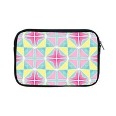 Pastel Block Tiles Pattern Apple Ipad Mini Zipper Cases by TanyaDraws
