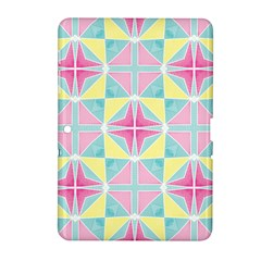 Pastel Block Tiles Pattern Samsung Galaxy Tab 2 (10 1 ) P5100 Hardshell Case  by TanyaDraws