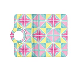 Pastel Block Tiles Pattern Kindle Fire Hd (2013) Flip 360 Case by TanyaDraws