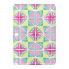 Pastel Block Tiles Pattern Samsung Galaxy Tab Pro 10 1 Hardshell Case by TanyaDraws