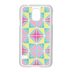 Pastel Block Tiles Pattern Samsung Galaxy S5 Case (white) by TanyaDraws