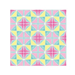 Pastel Block Tiles Pattern Small Satin Scarf (square) by TanyaDraws