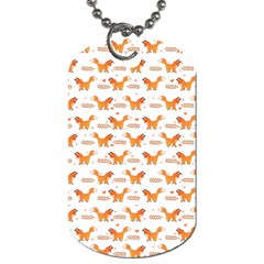 Fox And Laurel Pattern Dog Tag (one Side) by TanyaDraws