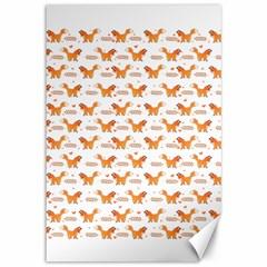 Fox And Laurel Pattern Canvas 12  X 18   by TanyaDraws