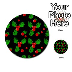 Christmas Berries Pattern  Multi Purpose Cards (round)  by Valentinaart