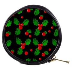 Christmas Berries Pattern  Mini Makeup Bags by Valentinaart