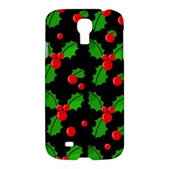 Christmas Berries Pattern  Samsung Galaxy S4 I9500/i9505 Hardshell Case by Valentinaart