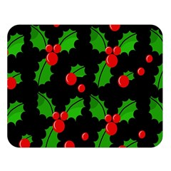 Christmas Berries Pattern  Double Sided Flano Blanket (large)  by Valentinaart