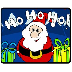 Santa Claus  Fleece Blanket (Medium)