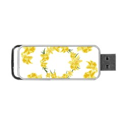 Daffodils Illustration  Portable Usb Flash (one Side) by vanessagf